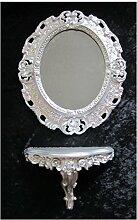 SET Silber Wandspiegel + Konsole M OVAL