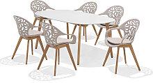 Set - Sol Gartentisch 2.0 7-teilig - Beige