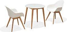 Set - Sol Gartentisch 3-teilig - Weiß