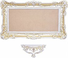 Set Spielekonsole + großer Wandspiegel Gold Weiß Gold Barock Venezianische Luigi XVI Fake Vintage