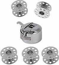 Set von 1 Spule mehr 5 Nähmaschine Spulen Metall Nähzubehör Handwerk Werkzeuge