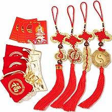 Set von 12 Feng Shui Münzen Kit Kombiniert mit
