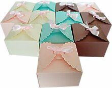 Set von 12Geschenk-Boxen, Hochzeit, Weihnachten, Baby Dusche, Geburtstage Gefallen Boxen für hausgemachte Kuchen, Cookies, Schokolade, Kekse, Süßigkeiten, Kerzen, Badekugeln, Schmuck von diarylook 12 Pack