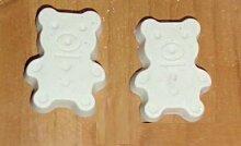 Set von 12Kreide handgefertigt weißen A Form Bär Geburtstag, Tischkarten Gastgeschenke Konfirmation, Kommunion, Weihnachten–Idee Geschenk