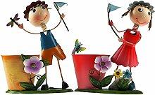 Set von 2Metall Neuheit Junge/Mädchen Schmetterling Net Pflanze Topflappen