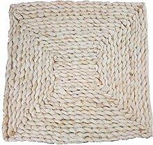 Set von 2 quadratischen Stroh / Rattan Untersetzer Isoliermatte Natur Tischset, 30x30 CM