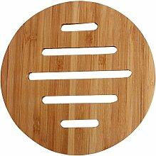 Set von 2 Schöne Bambus Untersetzer Tablemat Kaffee-Untersetzer, rund