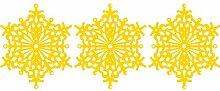 Set von 3 - 20 cm Farbe Gelb Schneeflocken Weihnachten Schneeflocken Aufkleber , Weihnachten Aufkleber, Yule , Fenster Aufkleber , Wandaufkleber , Schneeflocke Vinyl Aufkleber , ThatVinylPlace