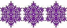 Set von 3 - 20 cm Farbe Purpple Schneeflocken Weihnachten Schneeflocken Aufkleber , Weihnachten Aufkleber, Yule , Fenster Aufkleber , Wandaufkleber , Schneeflocke Vinyl Aufkleber , ThatVinylPlace