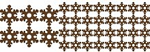 Set von 38 Schneeflocken ( 6 - 9 cm , 32 - 5 cm ) Farbe Braun Weihnachtsschneeflocken Aufkleber , Weihnachten Aufkleber, Yule , Fenster Aufkleber , Wandaufkleber , Schneeflocke Vinyl Aufkleber , ThatVinylPlace
