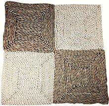 Set von 4 natürlichen runden Rattan Tischsets Stroh Isolierung Pad, natürliche Farbe, 30CM