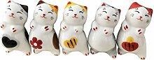 Set von 5 liebenswerten Chubby Cat Keramik