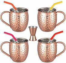 Set von 5 Moscow Mule Becher 16 oz für Cocktail