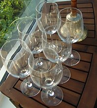 Set von 6Große Rot und Weiß Wein Hochzeit Stil Gläser, Hochzeit Stil Hoch Weinglas Große geeignet für Rot oder Weiß Wein, markante Form, große Wein Glas FASST 500ml oder 50cl Maximale Kapazität.