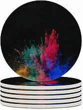 Set von 6 Untersetzern, Farbe Powder Blast Black,