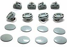 Set von 8Single Duschtürrollen/Läufer/Räder 23mm im Durchmesser, Roller diameter 25mm