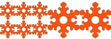 Set von Schneeflocken 8 ( 2 - 20 cm, 6 - 10 cm) Farbe orange Weihnachtsschneeflocken Aufkleber , Weihnachten Aufkleber, Yule , Fenster Aufkleber , Wandaufkleber , Schneeflocke Vinyl Aufkleber , ThatVinylPlace