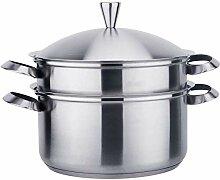 Sets Pot Pan mit Suppe Rückstand Trennung Start