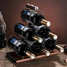SETSCZY Weinregal Metall Flaschenregal für