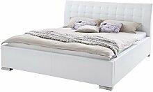 sette notti Polsterbett 140x200 cm Weiß, Bett mit