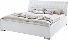 sette notti Polsterbett 180x200 cm Weiß, Bett mit