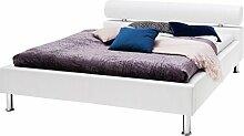 sette notti Polsterbett Bett 140x200 Weiß,