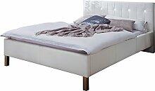sette notti Polsterbett Bett 140x200 Weiß mit