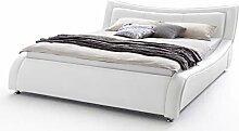 sette notti  Polsterbett Bett 160x200 Weiß,