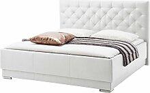 sette notti  Polsterbett Bett 180x200 Weiß, Bett