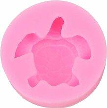 SEVENHOPE Pink Silikon 3D Schildkröte Geformt