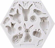 SEVENHOPE Weiß Hexagon Insekt Kaninchen Eule