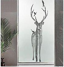 SevenLeo Fensterfolie Selbsthaftend Blickdicht