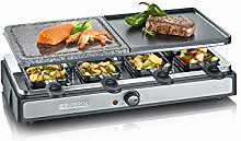 Severin RG 2344 Raclette Grill mit Naturgrillstein