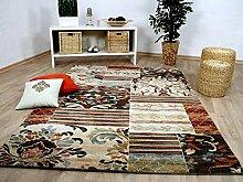 Sevilla Designer Teppich Klassik Beige Rost
