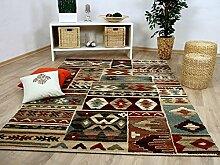 Sevilla Designer Teppich Klassik Ethno Bunt in 5