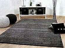 Sevilla Designer Teppich Modern Anthrazit Trend in