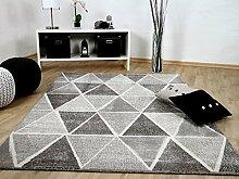 Sevilla Designer Teppich Modern Grau Anthrazit