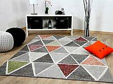 Sevilla Designer Teppich Modern Grau Bunt Prisma