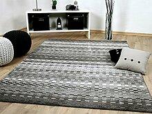 Sevilla Designer Teppich Modern Grau Stripes in 5
