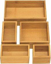 Seville Classics BMB17053 Bamboo Drawer Organizer