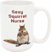 Sexy Eichhörnchen Krankenschwester 11oz Kaffee