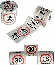 Sexy Happy Birthday 30. WC-Papier Party Dekoration Home Gewebe Rolle Fun Erwachsene Neuheit Geschenk Witz 4