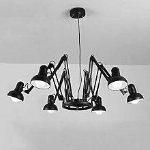 kronleuchter schwarz metall g nstig online kaufen lionshome. Black Bedroom Furniture Sets. Home Design Ideas