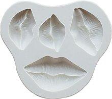 Sexy Lippen Silikonform Fondant Form Schokolade