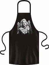 Sexy Rock/Gothic Motiv Grill-/Kochschürze: Marilyn Monroe Wings And Cards
