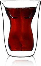Sexy Schnapsglas Set Kristall, Frauen geformt Custom Design neue Design Double Walled Thermo Gläser Wasser Glas Weinglas Whisky Glas Kristall Bier Gläser Kreative Bar Glas Doppelschicht Gläser Set Ideal Geschenk für Männer von Frauen (style-3)