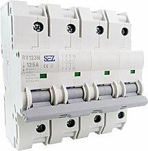 SEZ Hauptschalter 125A 3+N 4P Leistungstrenner 230V 50Hz RV123N 89205 SEZ 7097