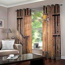 SFALHX Thermo-Verdunklungsvorhänge Vintage Tür