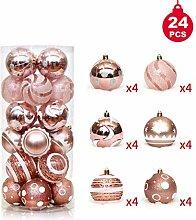 sfesnid Weihnachtskugeln Set 24 Stücke 6CM