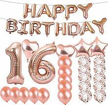 SFSL Partyzubehör zum 16. Geburtstag, Roségold,